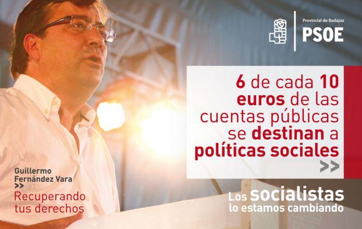 """""""Recuperando Tus Derechos"""", lema de la campaña socialista que destaca la apuesta por la recuperación de Extremadura"""